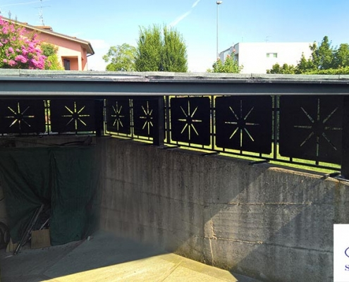 Tettoia in ferro vista interna - A.Zeta Serramenti Brescia